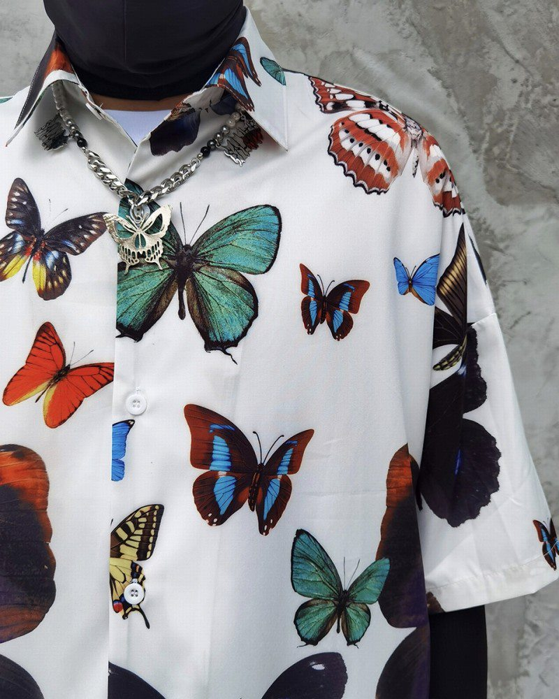 オーバーサイズバタフライ半袖シャツの画像7